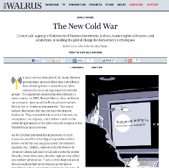 The Walrus Screenshot of The New Cold War article