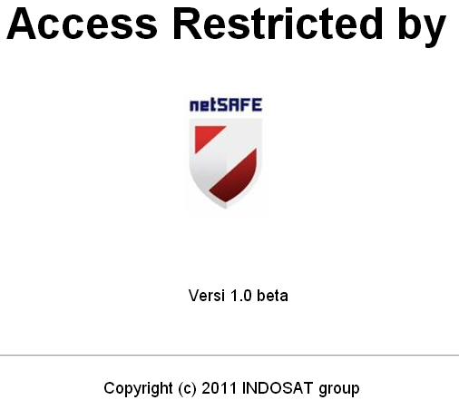 Figure 14: Blockpage observed on SSID IGF2013@Indosat