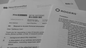 Some of the responses from Canadian telecommunications companies to AMI-facilitated requests