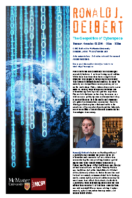 Geopolitics of Cyberspace event poster