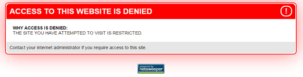 Figure 14: Alternate version of the blockpage containing the Netsweeper logo hosted on YemenNet.
