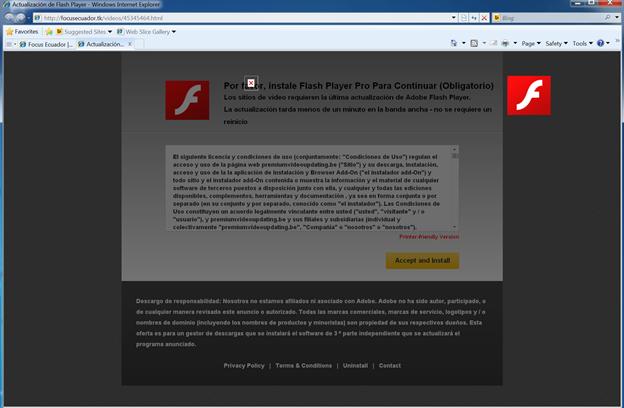 Image 10: Fake Flash update