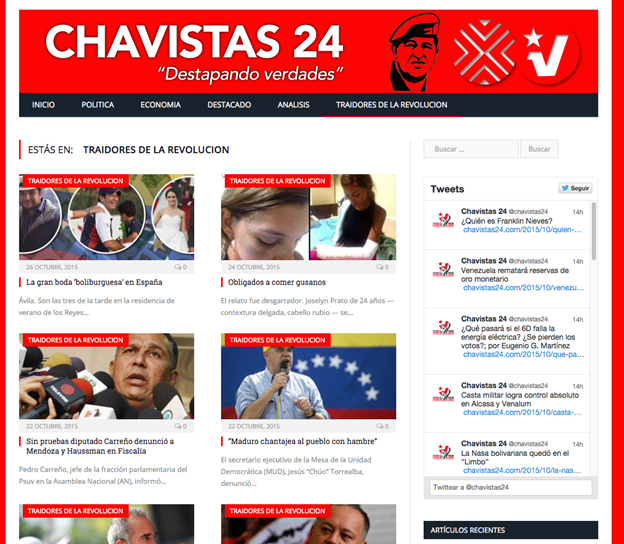 Image 30: Screenshot of Chavistas24.com