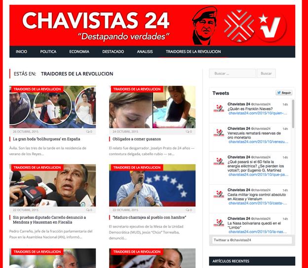 Image 30: Screenshot of Chavistas24.com