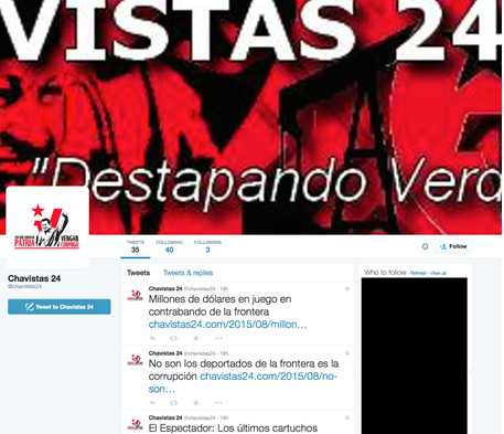 Image 31: The Chavistas 24 Twitter Feed