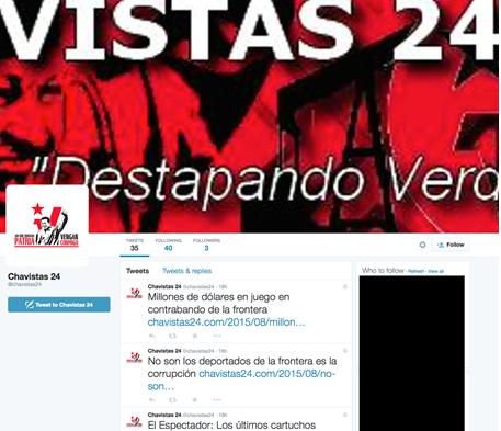 Image 31: The Chavistas 24 Twitter Feed