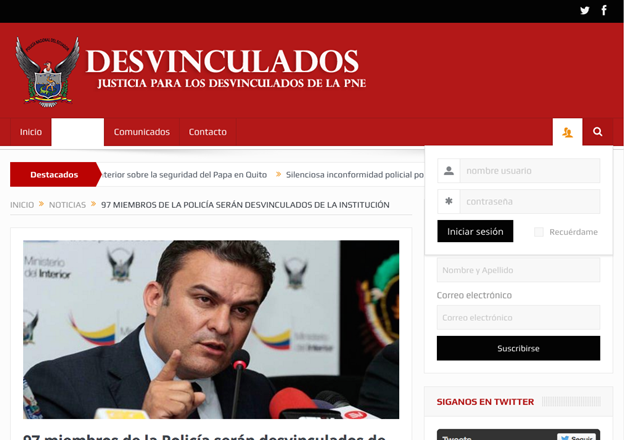 Image 32: Screenshot of Los Desvinculados website