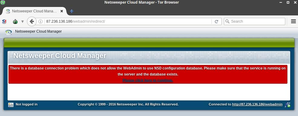 Figure 1 - A sample Netsweeper web administrator interface.