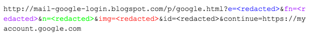 Figure 25: URL parameters in June campaign against Aric Toler