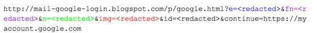 Figure 25: URL parameters in June campaign against Aric Toler
