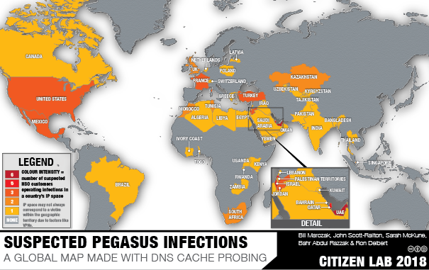 HIDE AND SEEK Tracking NSO Group's Pegasus Spyware to Operations in 45 Countries