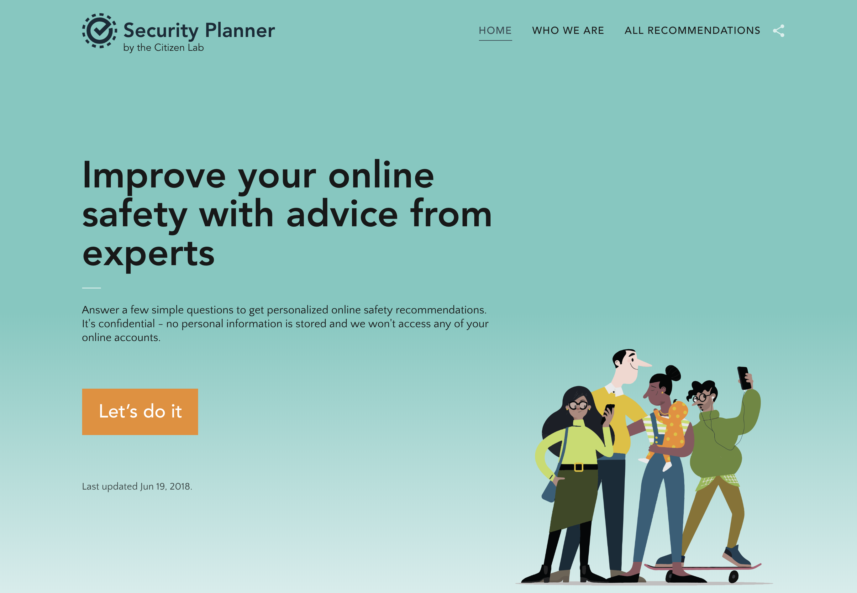 visit security planner to learn more about improving your online security