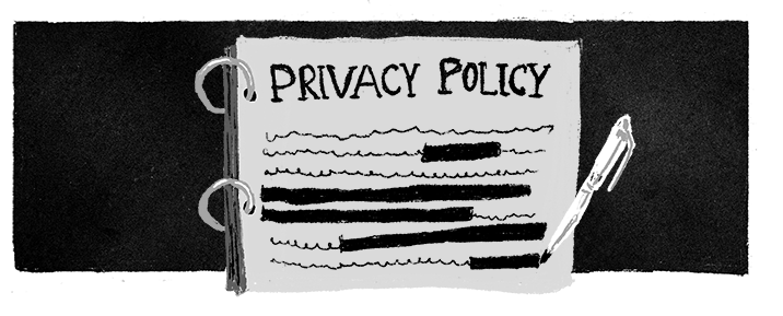 Illustration of a privacy policy.
