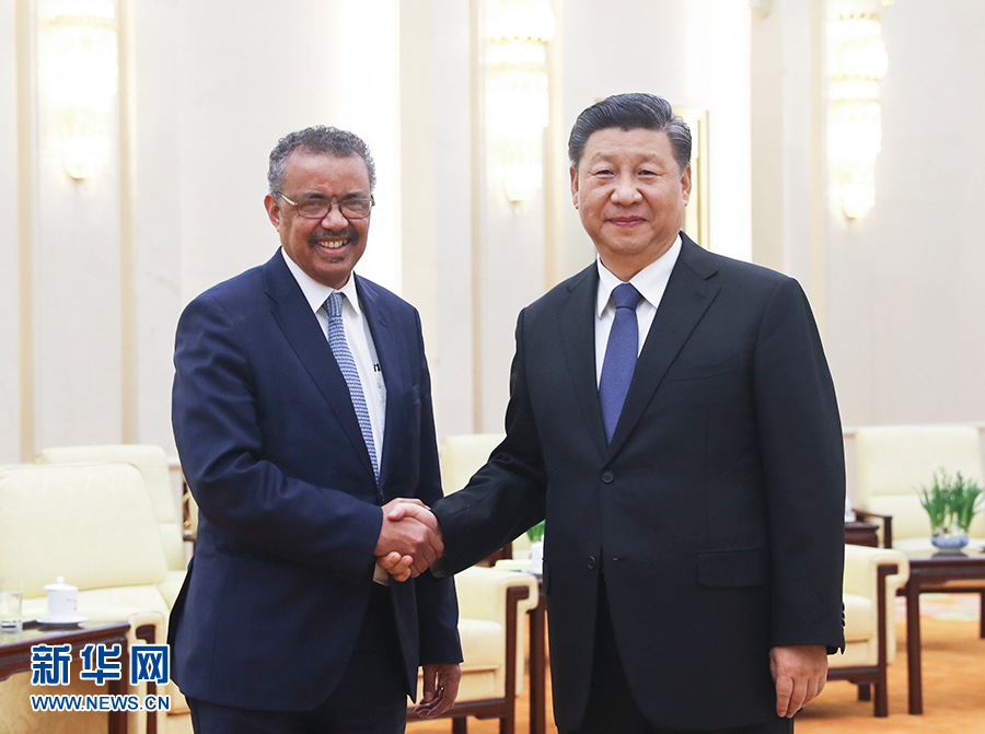 WHO Director-General Dr. Tedros Adhanom met with Chinese leadership including Xi Jinping